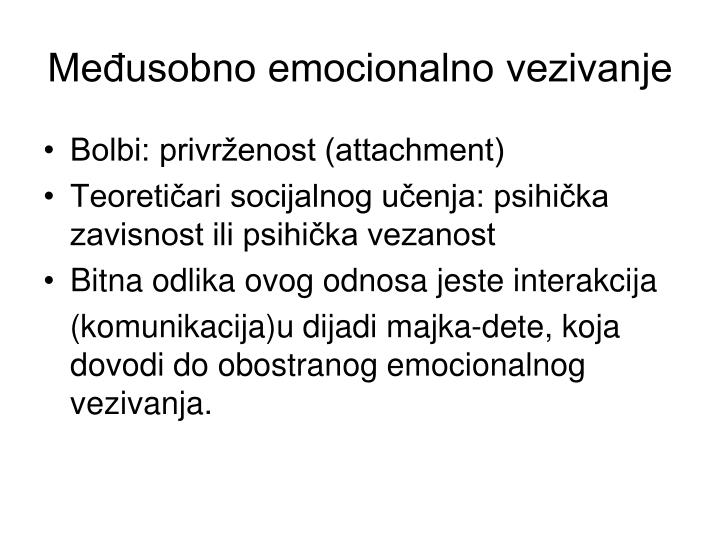 Međusobno emocionalno vezivanje