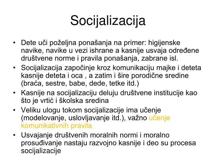 Socijalizacija