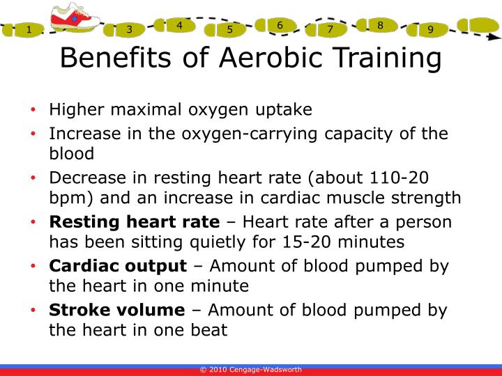 benefits of aerobic training Exercise and cardiovascular health jonathan myers there are a number of physiological benefits of exercise (maximal oxygen consumption or aerobic capacity.