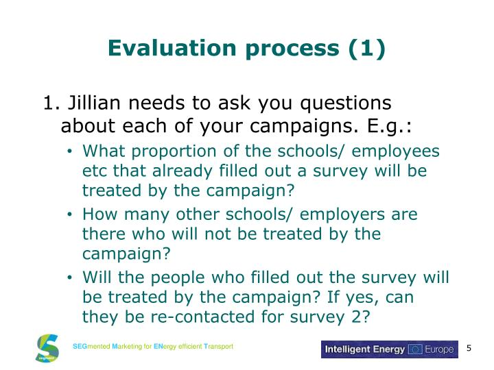Evaluation process (1)
