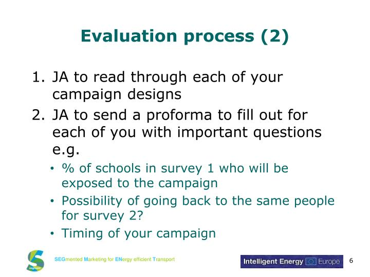 Evaluation process (2)