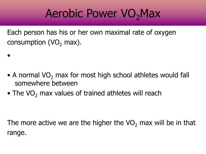 Aerobic Power VO