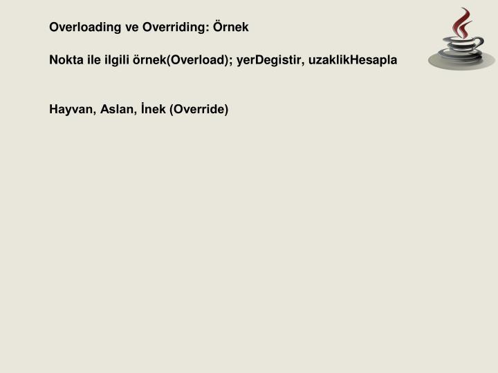 Overloading ve Overriding: Örnek