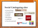 social cataloguing sites