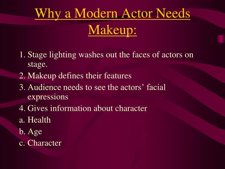 Why a Modern Actor Needs Makeup: