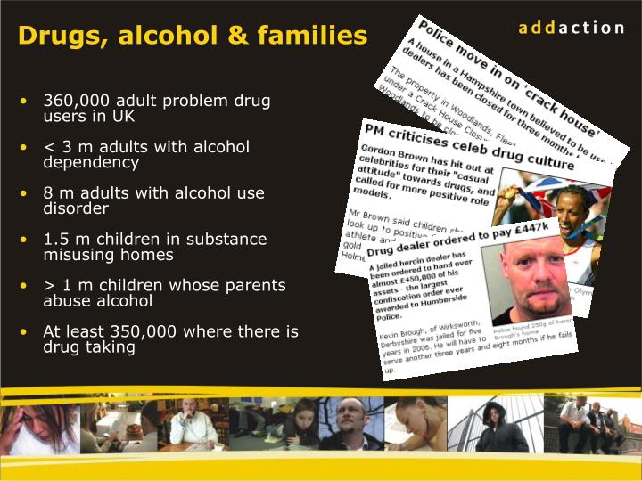 Drugs alcohol families