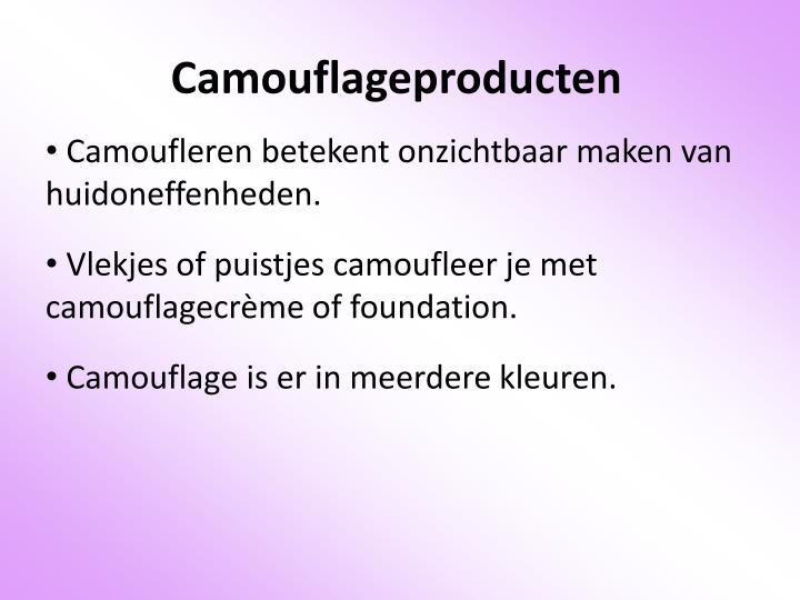 Camouflageproducten