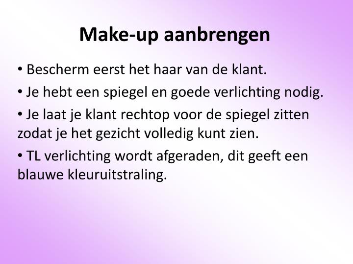Make-up aanbrengen