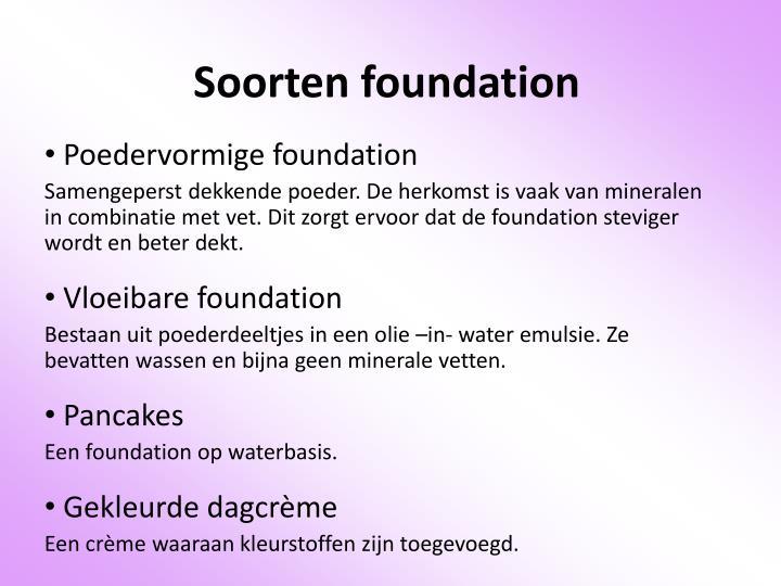 Soorten foundation