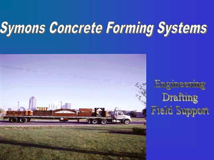 Symons Concrete Forming Systems