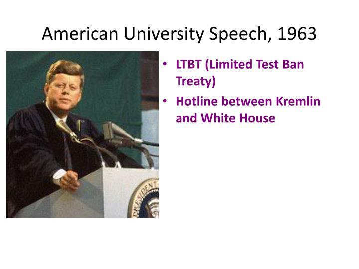 American University Speech, 1963