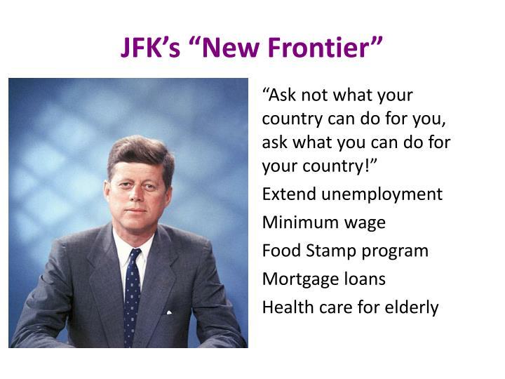"""JFK's """"New Frontier"""""""