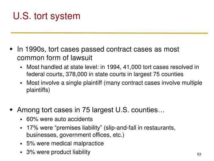 U.S. tort system