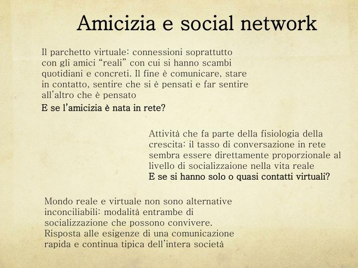 Amicizia e social network