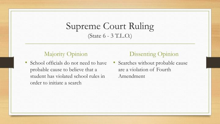new jersey v tlo New jersey v tlo (1985) student search & seizure overviewbackground teachingdecisionresourcesfor teachers only    the warrant requirement, in .