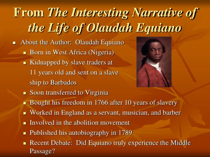 a comparison of captivity narratives of olaudah equiano and mary rowlandson In the narrative of the captivity by mary rowlandson and in the narrative of the life of olaudah equiano written by the same one the reader was able to find similarities and differences as.