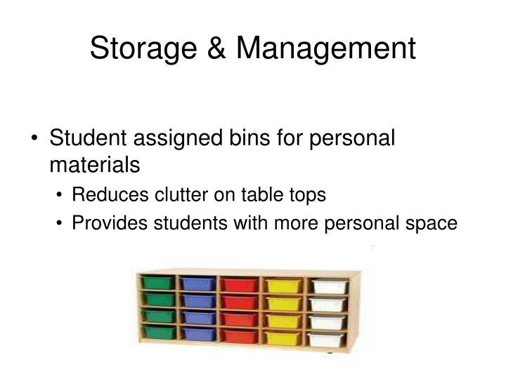 Storage & Management