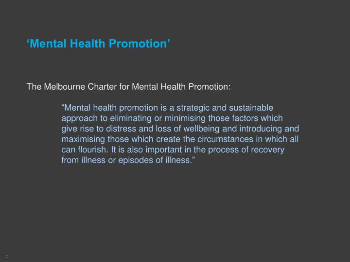 'Mental Health Promotion'
