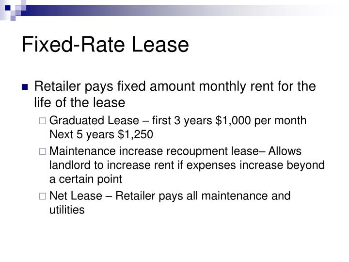 Fixed-Rate Lease