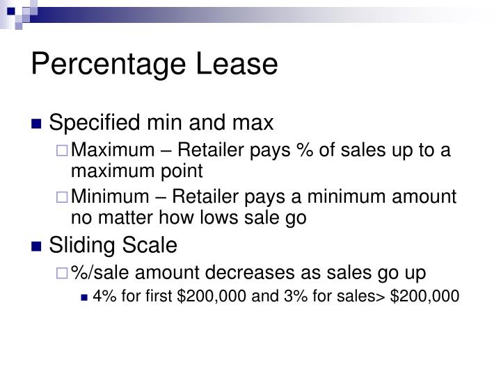 Percentage Lease