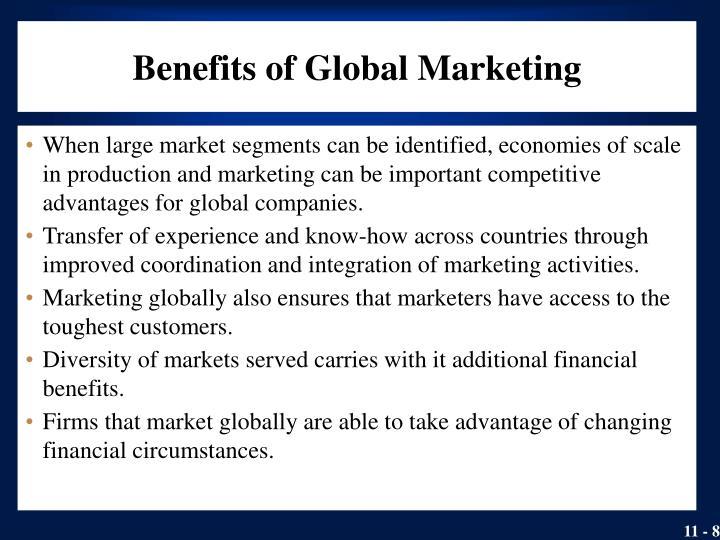 Benefits of Global Marketing