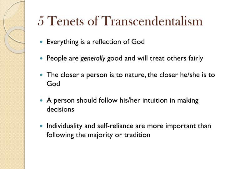 5 Tenets of Transcendentalism