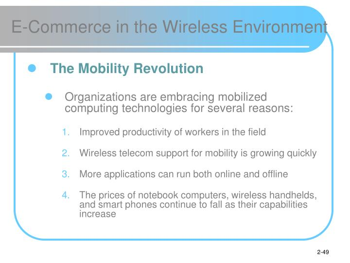 E-Commerce in the Wireless Environment