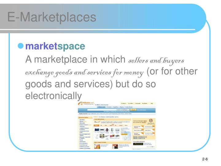 E-Marketplaces