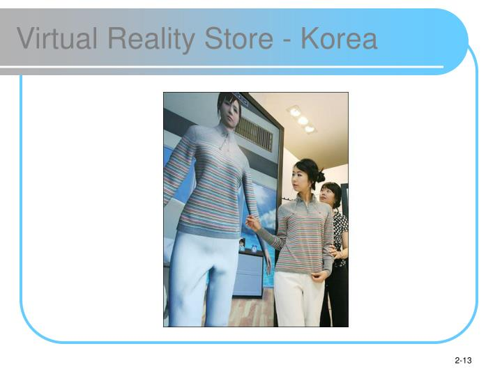 Virtual Reality Store - Korea