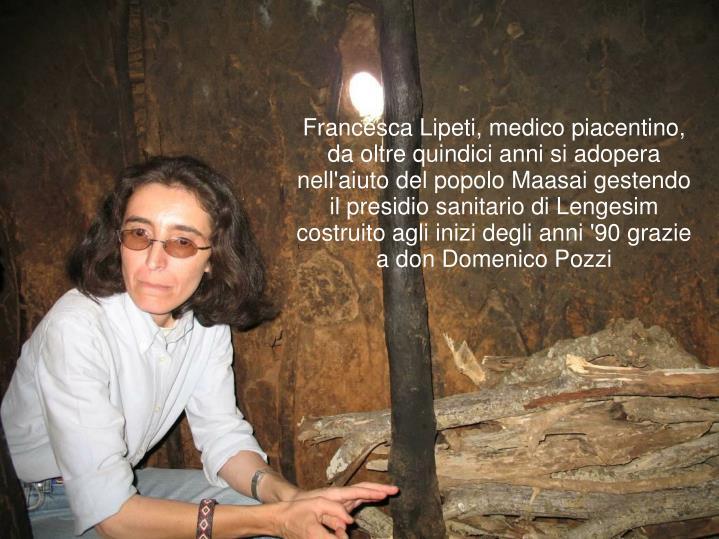 Francesca Lipeti, medico