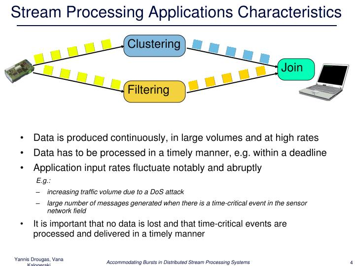 Stream Processing Applications Characteristics