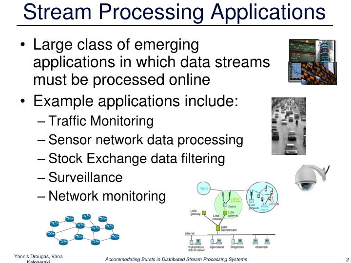 Stream processing applications