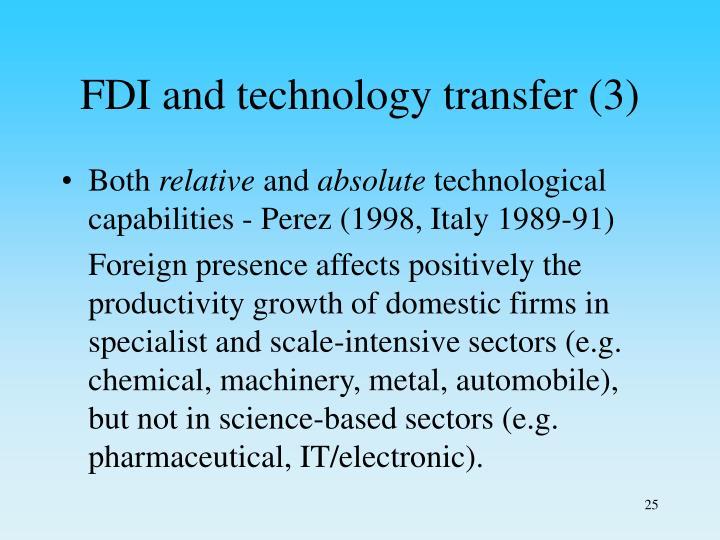 FDI and technology transfer (3)