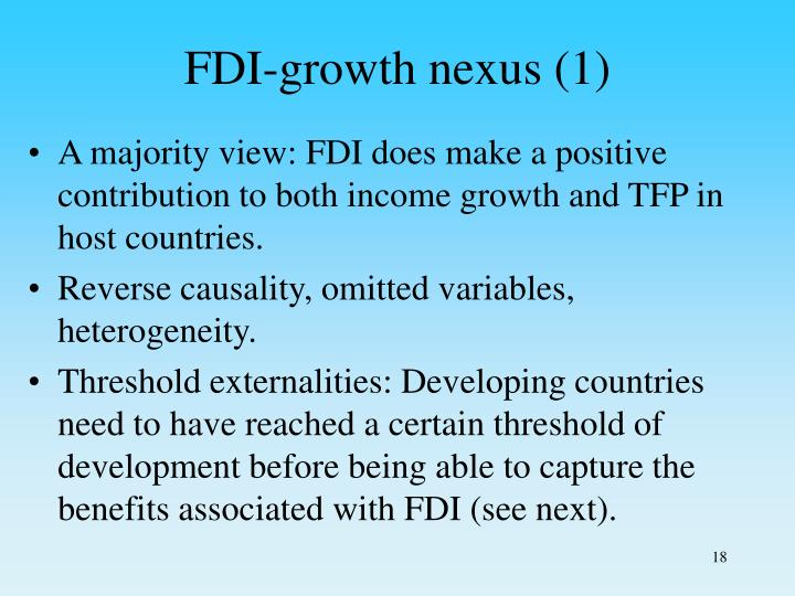 FDI-growth nexus (1)
