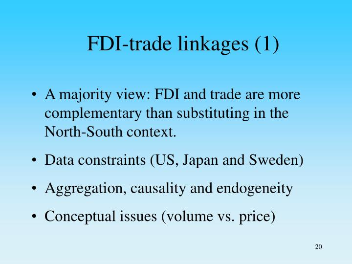 FDI-trade linkages (1)