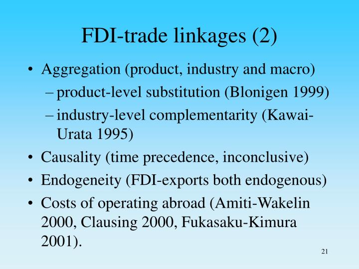 FDI-trade linkages (2)