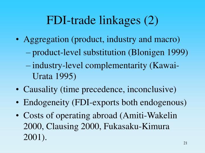 FDI-trade linkages (2)