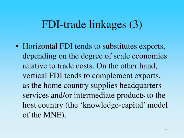 FDI-trade linkages (3)