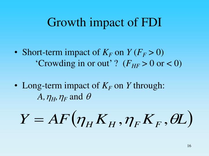 Growth impact of FDI