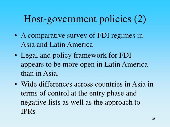 Host-government policies (2)