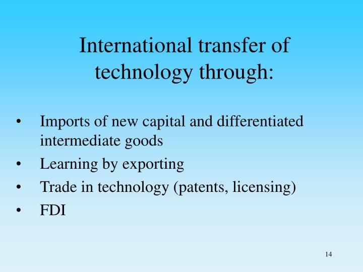 International transfer of