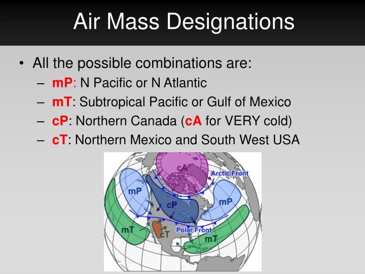 Air Mass Designations
