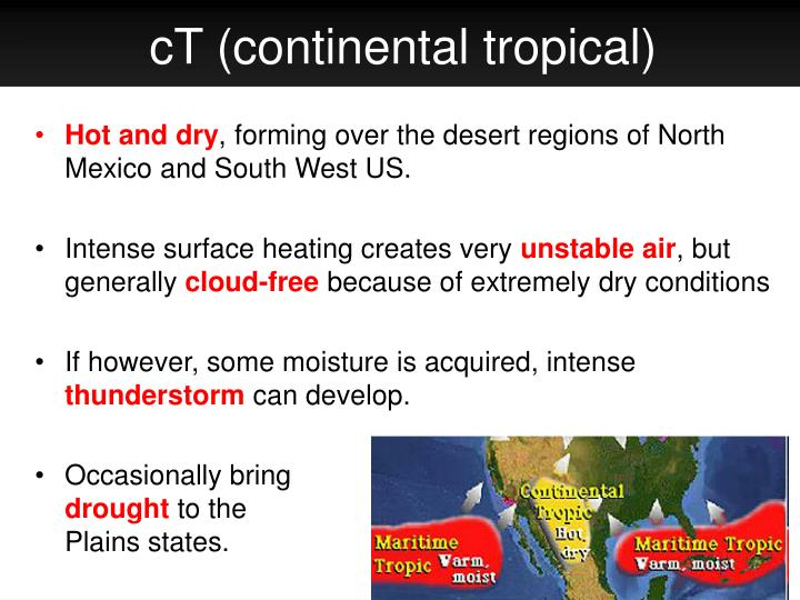 cT (continental tropical)