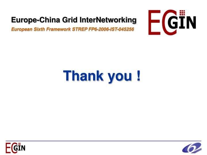 Europe-China Grid InterNetworking