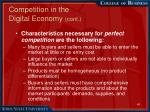 competition in the digital economy cont