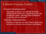 e market success factors