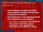 intermediation and syndication in e commerce