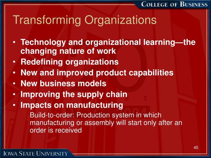 Transforming Organizations