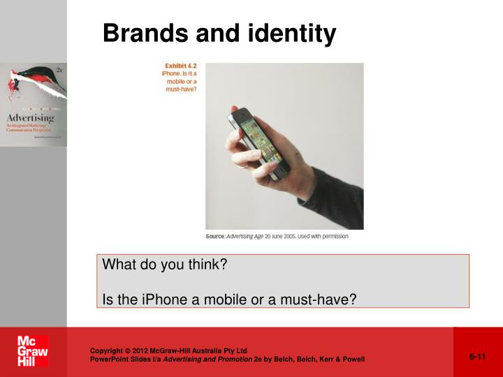 Brands and identity