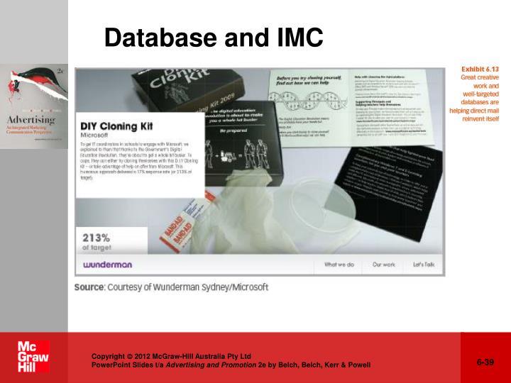 Database and IMC